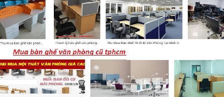 Thu mua bàn ghế văn phòng cũ chuyên nghiệp giá cao nhất TpHCM